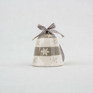 Keramický zvonček 8 x 8,5 cm, sivá