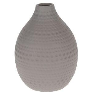 Koopman Keramická váza Asuan hnedá, 17,5 cm