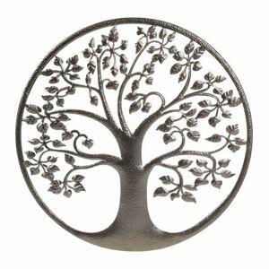 Kovová nástenná dekorácia Strom života, 40 x 1 x 40 cm