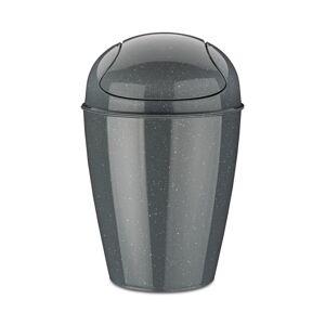 Koziol Kôš Swing Top S Organic sivá, 5 l, 21,6 x 21,6 x 37 cm
