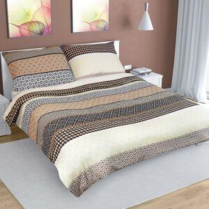 Bellatex Krepové obliečky Pruhy béžová, 200 x 220 cm, 2 ks 70 x 90 cm