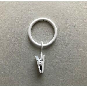 Gardinia Krúžok sa žabkou a háčikom pre 16 - 20 mm, biela lesklá, 10 ks