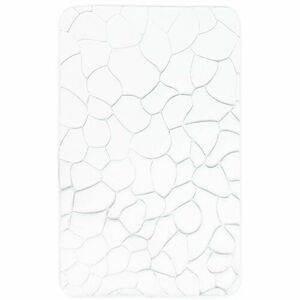 VOPI Kúpeľňová predložka s pamäťovou penou Kamene biela, 50 x 80 cm