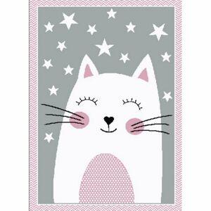 Vopi Kusový detský koberec Kiddo 0132 pink
