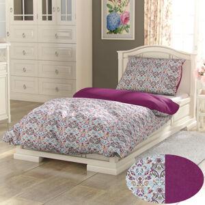 Kvalitex Bavlnené obliečky Provence Narista purpurová, 240 x 200 cm, 2 ks 70 x 90 cm
