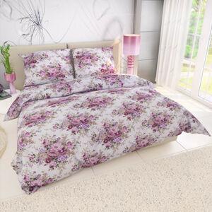 Kvalitex Krepové obliečky Ester ružová, 240 x 220 cm, 2 ks 70 x 90 cm