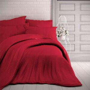 Kvalitex Saténové obliečky Stripe červená, 220 x 200 cm, 2 ks 70 x 90 cm