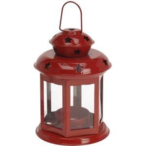 Lampáš na čajovú sviečkuTharsis červená, 14 cm