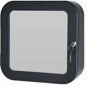 Lekárnička so zrkadlom, čierna