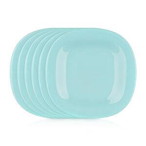Luminarc Hranatý dezertný tanier CARINE 19 cm, 6 ks, tyrkysová