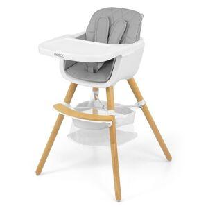Milly Mally Jedálenská stolička 2v1 Espoo sivá, 83,5 x 52 x 52 cm