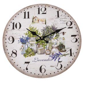 Nástenné hodiny Lavender, 34 cm