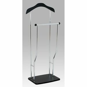 Autronic Nemý sluha Dustin chróm / čierna, 45 x 108 cm