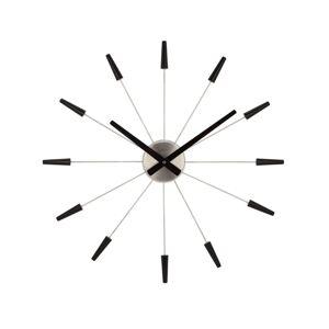 Nextime Plug Inn 2610zw nástenné hodiny čierna