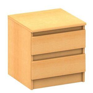 Tempo Kondela 2 šuplíkový nočný stolík, buk, HANY 002