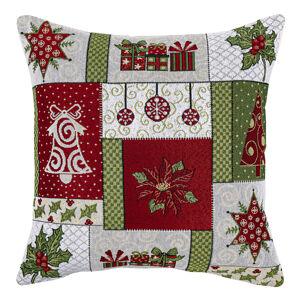 Boma Trading Obliečka na vankúšik Vianoce zelená, 45 x 45 cm