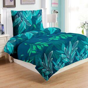 Jahu Obliečky mikroplyš Green leafs, 140 x 200 cm, 70 x 90 cm