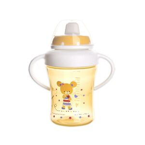 Orion Detský hrnček s pítkem ANIMAL 300 ml, žltá