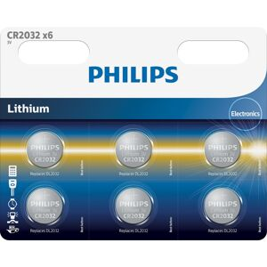Philips baterie CR2032P6/01B - 6ks