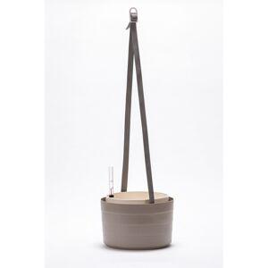 Plastia Samozavlažovací závesný kvetináč Berberis sivá + slonová kosť, pr. 26 cm