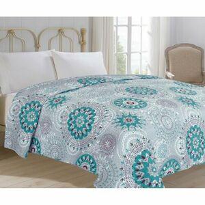 Jahu Prehoz na posteľ Debie tyrkysová, 220 x 240 cm