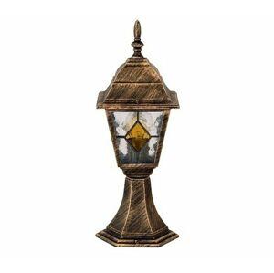 Vonkajšia stojaca lampa Rabalux Monaco 8183 antická zlatá