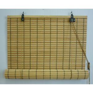 Gardinia Roleta bambusová JAVA prír./čokoláda, 120 x 160 cm