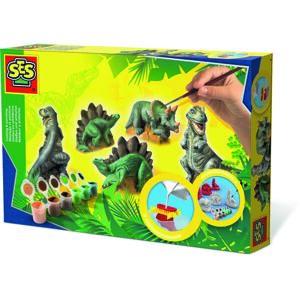 SES Sadrový trojkomplet Dinosaury
