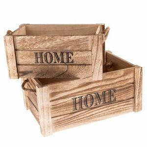 Sada dekoračných drevených debničiek Home 2 ks, prírodná