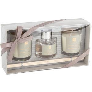 Sada sviečok a difuzéra Aroma di Rogito Fresh linen, 3 ks