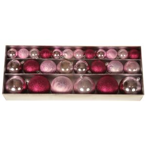 Sada vianočných ozdôb Moya 26 ks, ružová