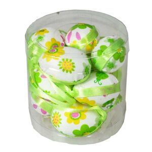 Sada závesných veľkonočných vajíčok zelená, 4 cm, 12 ks