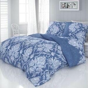 Kvalitex Saténové obliečky Vintage modrá, 220 x 200 cm, 2 ks 70 x 90 cm