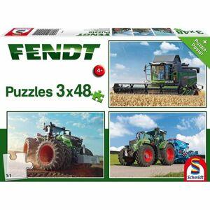 Schmidt Traktory Fendt 3 x 48 dielov puzzle