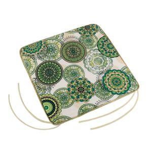 Bellatex Sedák Adela hladký Mandala zelená, 40 x 40 cm