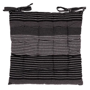 Trade Concept Sedák Prúžok sivá prešívaný, 40 x 40 cm