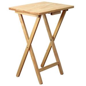 Skladací stolík drevený, prírodná