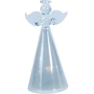 Sklenený anjel s LED osvetlením, 11 cm