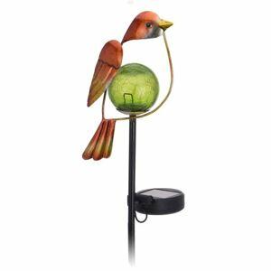 Solárna lampa Bird oranžová, 13 x 6 x 52 cm