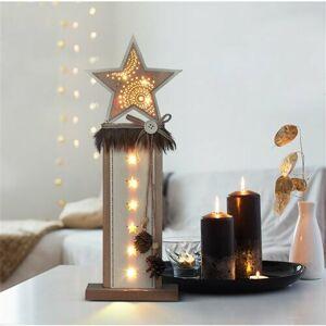 Solight 1V237 Vianočná LED dekorácia Hviezda 10 LED, teplá biela, 40 cm