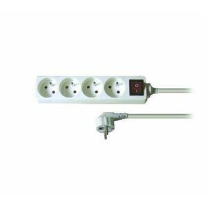 Solight Predlžovací kábel s vypínačom biela, 3m