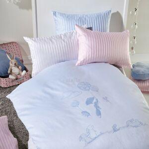 Stella Ateliers Detské damaškové obliečky do postieľky Oskar Abenteuer béžová, 100 x 135 cm, 40 x 60 cm