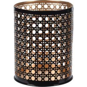 Svietnik na čajovú sviečku Leveramo hnedá, 8 x 10 cm