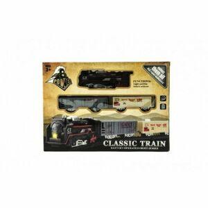 Teddies Svietiace vlak na batérie s vagónikmi a koľajami, 30 x 22 x 4 cm