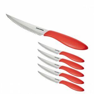 Tescoma Nôž steakový Presto 12 cm, 6 ks, červená