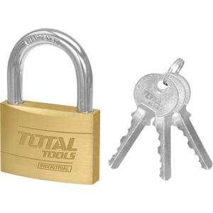 Total Tools Visiaci zámok s kľúčmi, 4 cm