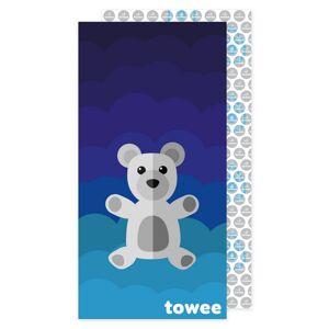 Towee Rýchloschnúca osuška Teddy Bear modrá, 70 x 140 cm