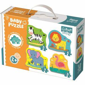 Trefl Baby Zvieratá na safari 4v1 3,4,5,6 dielov puzzle