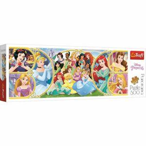 TREFL Panoramatické Zpět do světa princezen 500 dielov puzzle