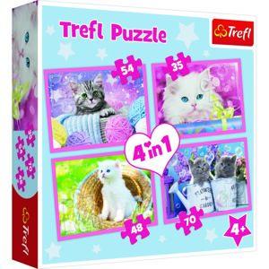 Trefl Puzzle Hravé mačiatka, 4 ks